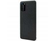 Husa Fibra Carbon Nevox pentru Huawei P40 Pro, CarbonSeries, Neagra, Blister CS-1810