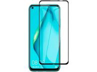 Folie Protectie Ecran OEM pentru Huawei P40 lite, Sticla securizata, Full Face, Full Glue, 9D, 9H, Neagra