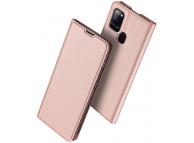 Husa Piele DUX DUCIS SKIN PRO pentru Samsung Galaxy A21s, Roz Aurie, Blister