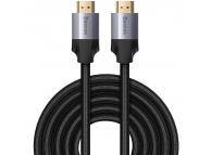 Cablu Audio si Video HDMI la HDMI Baseus Enjoyment 4K, 5 m, Gri, Blister CAKSX-E0G