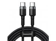 Cablu Date si Incarcare USB Type-C la USB Type-C Baseus Cafule, 100W, 2 m, Gri, Blister CATKLF-ALG1