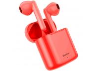 Handsfree Casti Bluetooth Baseus TWS Encok W09 mini wireless, Bluetooth 5.0, SinglePoint, Rosu, Blister NGW09-09
