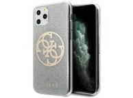 Husa Plastic - TPU Guess 4G Glitter Circle pentru Apple iPhone 11 Pro, Gri, Blister GUHCN58PCUGLLG