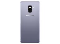 Capac Baterie - Geam Camera Spate - Senzor Amprenta Samsung Galaxy A8 (2018) A530, Mov, Swap
