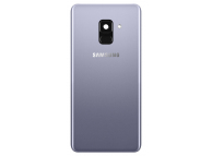 Capac Baterie - Geam Camera Spate - Senzor Amprenta Samsung Galaxy A8 (2018) A530, Mov, Second Hand