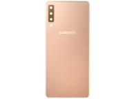 Capac Baterie - Geam Camera Spate Samsung Galaxy A7 (2018) A750, Auriu, Second Hand