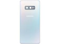Capac Baterie - Geam Camera Spate Samsung Galaxy S10e G970, Alb ( Prism White), Swap