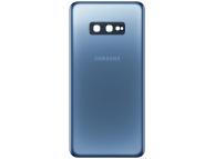 Capac Baterie - Geam Camera Spate Samsung Galaxy S10e G970, Albastru, Swap