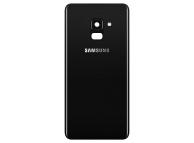 Capac Baterie - Geam Bltiz - Geam Camera Spate Samsung Galaxy A8 (2018) A530, Negru, Second Hand