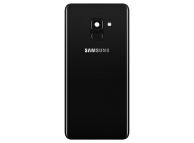 Capac Baterie - Geam Camera Spate - Senzor Amprenta Samsung Galaxy A8 (2018) A530, Negru, Second Hand