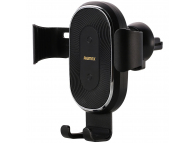 Suport Auto Universal Remax Gravity Car Mount Air Vent + incarcare Wireless Qi 10W, Negru, Blister RM-C38