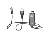 Adaptor Audio si Video HDMI la Lightning HOCO UA14, Conector L, Negru, Blister