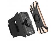 Husa Armband Tellur A100 cu suport detasabil  pentru Telefon, 4 -  6,5 Inch, Neagra TLL191031