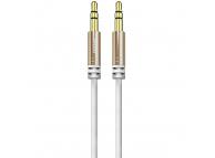 Cablu Audio 3.5 mm la 3.5 mm Dudao L12, 1.5 m, Alb, Blister