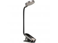 Mini lampa LED Baseus,  pentru citit, cu cleme, Gri Blister DGRAD-0G
