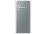 Husa Poliuretan Samsung Galaxy S10 5G G977, Clear View Cover, Alba, Blister EF-ZG977CWEGWW