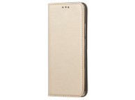 Husa Piele OEM Smart Magnet pentru Xiaomi Mi Note 10 Lite, Aurie, Bulk
