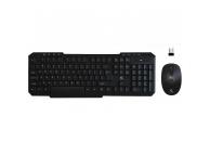 Kit Tastatura si mouse Wireless Rebeltec VORTEX, Neagra, Blister