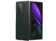 Husa Piele Samsung Galaxy Fold 2 F916, Leather Cover, Verde, Blister EF-VF916LGEGEU