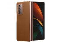 Husa Piele Samsung Galaxy Fold 2 F916, Leather Cover, Maro, Blister EF-VF916LAEGEU