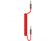 Cablu Audio 3.5 mm la 3.5 mm Usams Spring US-SJ256, 1.2 m, Rosu, Blister SJ256YP02