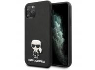 Husa TPU Karl Lagerfeld Saffiano Iconik pentru Apple iPhone 11 Pro, Neagra, Blister KLHCN58IKFBMBK