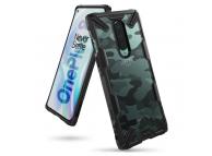 Husa Plastic - TPU Ringke Fusion X pentru OnePlus 8, Camo, Neagra, Blister XDOP0004