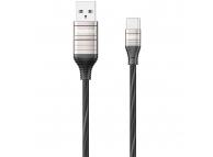 Cablu Date si Incarcare USB la USB Type-C Remax Luminous Disco RC-130a, 1 m, Negru, Blister