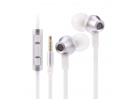 Handsfree Casti In-Ear Remax Stainless Steel, Cu microfon, 3.5 mm, Argintiu, Blister