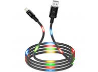 Cablu Date si Incarcare USB la Lightning XO Design NB108, 2.1A, 1 m, Negru, Blister