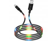 Cablu Date si Incarcare USB la MicroUSB XO Design NB108, 2.1A, 1 m, Negru, Blister