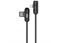 Cablu Audio Splitter USB - Lightning/ 3,5 mm XO Design NB38, 2.4A, 1 m, Negru, Blister