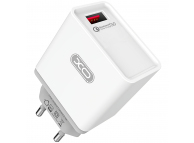 Incarcator Retea USB XO Design L32, 2.4A, QC 3.0, 1 X USB, Alb, Blister