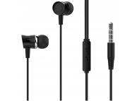 Handsfree Casti EarBuds XO Design EP20, Cu microfon, 3.5 mm, Negru, Blister
