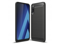 Husa TPU OEM Carbon pentru Samsung Galaxy M21, Neagra, Bulk