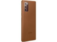 Husa Piele Samsung Galaxy Note 20 N980 / Samsung Galaxy Note 20 5G N981, Leather Cover, Maro EF-VN980LAEGEU