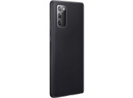 Husa Piele Samsung Galaxy Note 20 N980 / Samsung Galaxy Note 20 5G N981, Leather Cover, Neagra, Blister EF-VN980LBEGEU