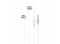 Handsfree Casti In-Ear HOCO M63 Ancient Sound, Cu microfon, 3.5 mm, Argintiu, Blister