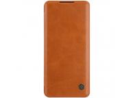 Husa Piele Nillkin Qin Book pentru Xiaomi Mi Note 10 Lite, Maro, Blister