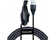 Cablu Date si Incarcare USB la USB Type-C Baseus Gamers 2A, 2 m, Negru, Blister CATXA-B01