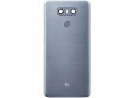 Capac Baterie - Geam Camera Spate - Senzor Amprenta LG G6 H870, Gri