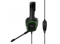 Casti Gaming iPega PG-R006, Cu microfon, Over-Ear, Negre Verzi, Blister