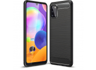 Husa TPU Tech-Protect Carbon pentru Samsung Galaxy A31, Neagra, Blister