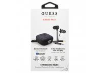 Pachet promotional Guess Bundle Pack, Handsfree Casti In-Ear 3.5 mm + Boxa Bluetooth, Negru, Blister GUBPERSPBK