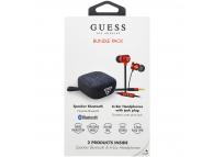 Pachet promotional Guess Bundle Pack, Handsfree Casti In-Ear 3.5 mm + Boxa Bluetooth, Rosu, Blister GUBPERSPRE