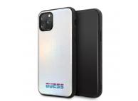 Husa Piele - TPU Guess Iridescent pentru Apple iPhone 11 Pro, Argintie, Blister GUHCN58BLD