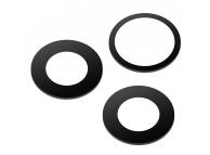 Geam Camera Spate Apple iPhone 11 Pro, Set 3 buc, Wide + Telephoto + UltraWide, Negru