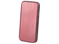 Husa Piele OEM Elegance pentru Samsung Galaxy A21s, Visinie, Bulk