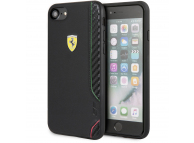 Husa TPU Ferrari On Track pentru Apple iPhone 7 / Apple iPhone 8 / Apple iPhone SE (2020), Neagra, Blister FESITHCI8BK
