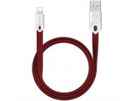 Cablu Date si Incarcare USB la Lightning McDodo Gorgeous CA-0315, 2.4A, 1 m, Rosu, Blister